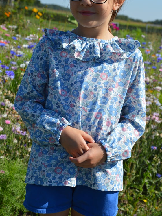 Image of Blouse liberty betsy asagao col volanté