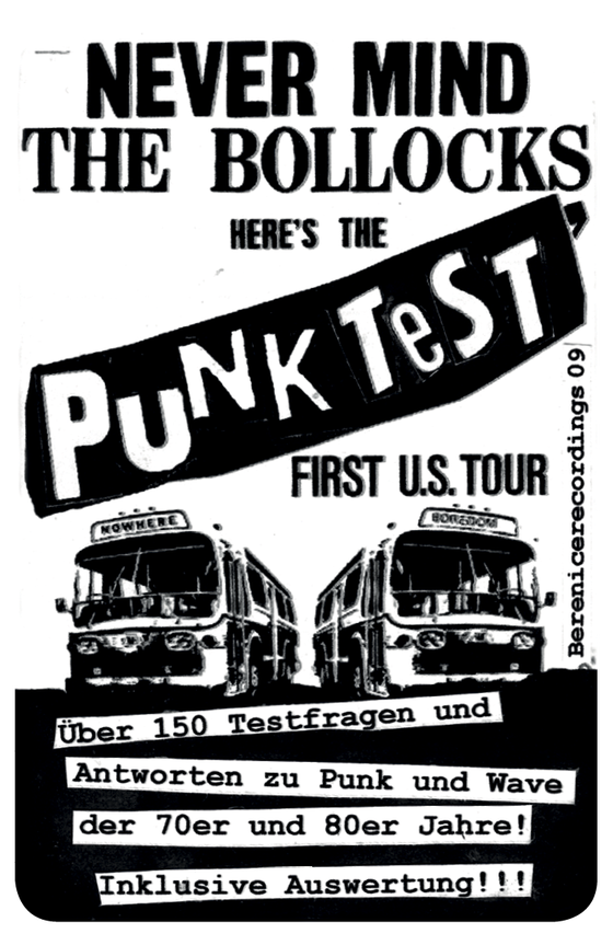 Image of Never Mind the Bollocks, Here's the Punk Test!