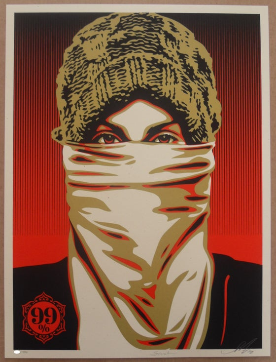 "Image of SHEPARD FAIREY ""OCCUPY PROTESTER"" - PRINT LTD ED 450 FROM 2012 - 45CM X 60CM"