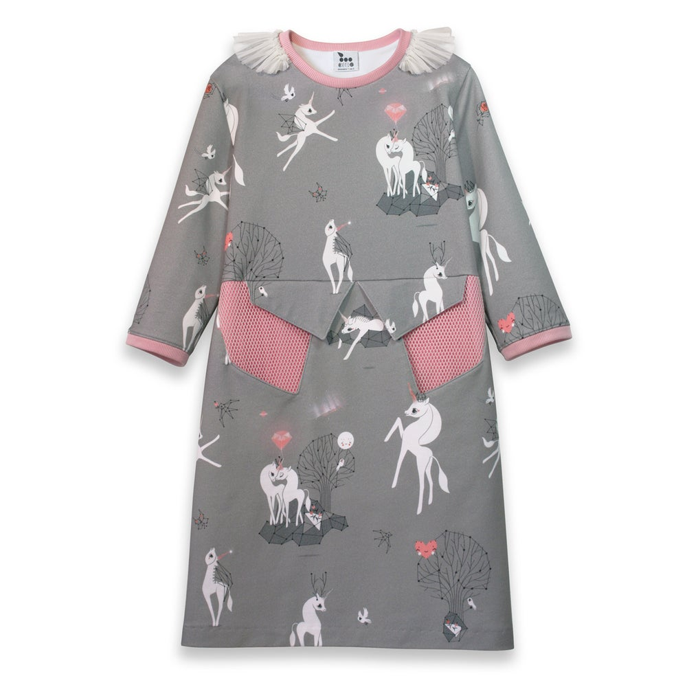 Image of 'magical unicorns' dress