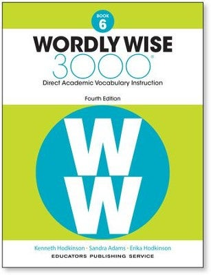 Image of 6th Grade-Wordly Wise 3000, 4th Edition, Vocabulary Grades