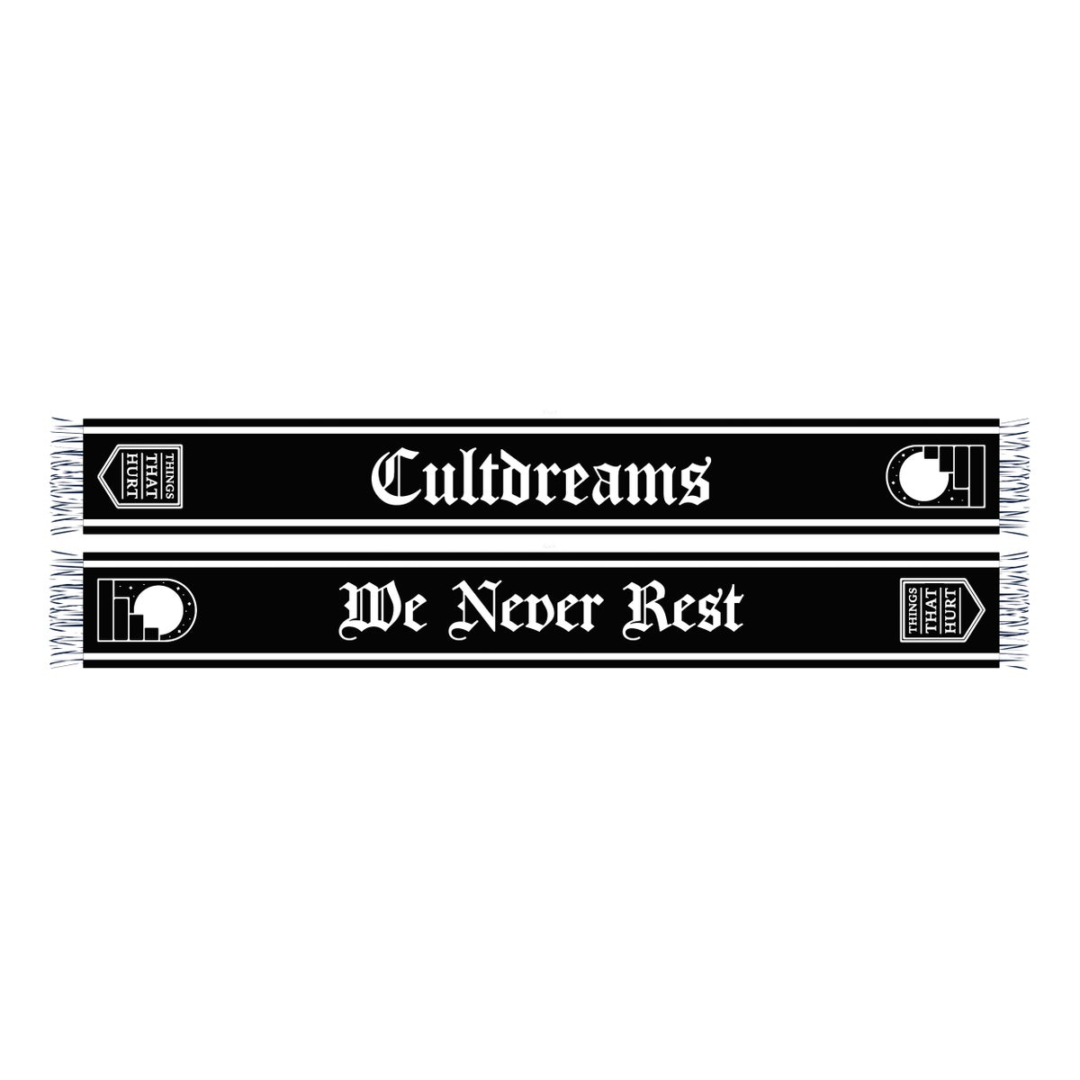 Image of We Never Rest Football Scarf
