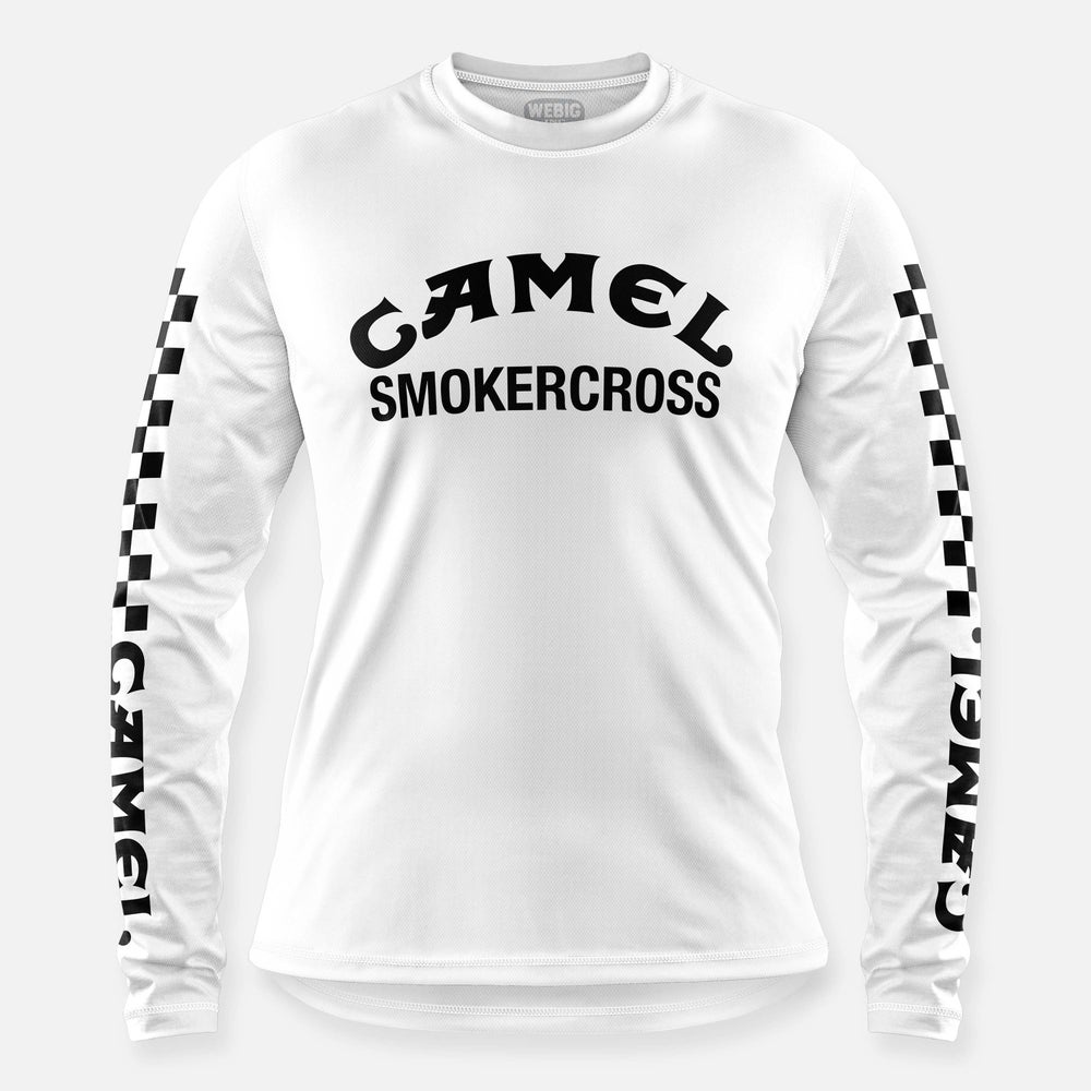 Image of CAMEL SMOKERCROSS JERSEY WHITE