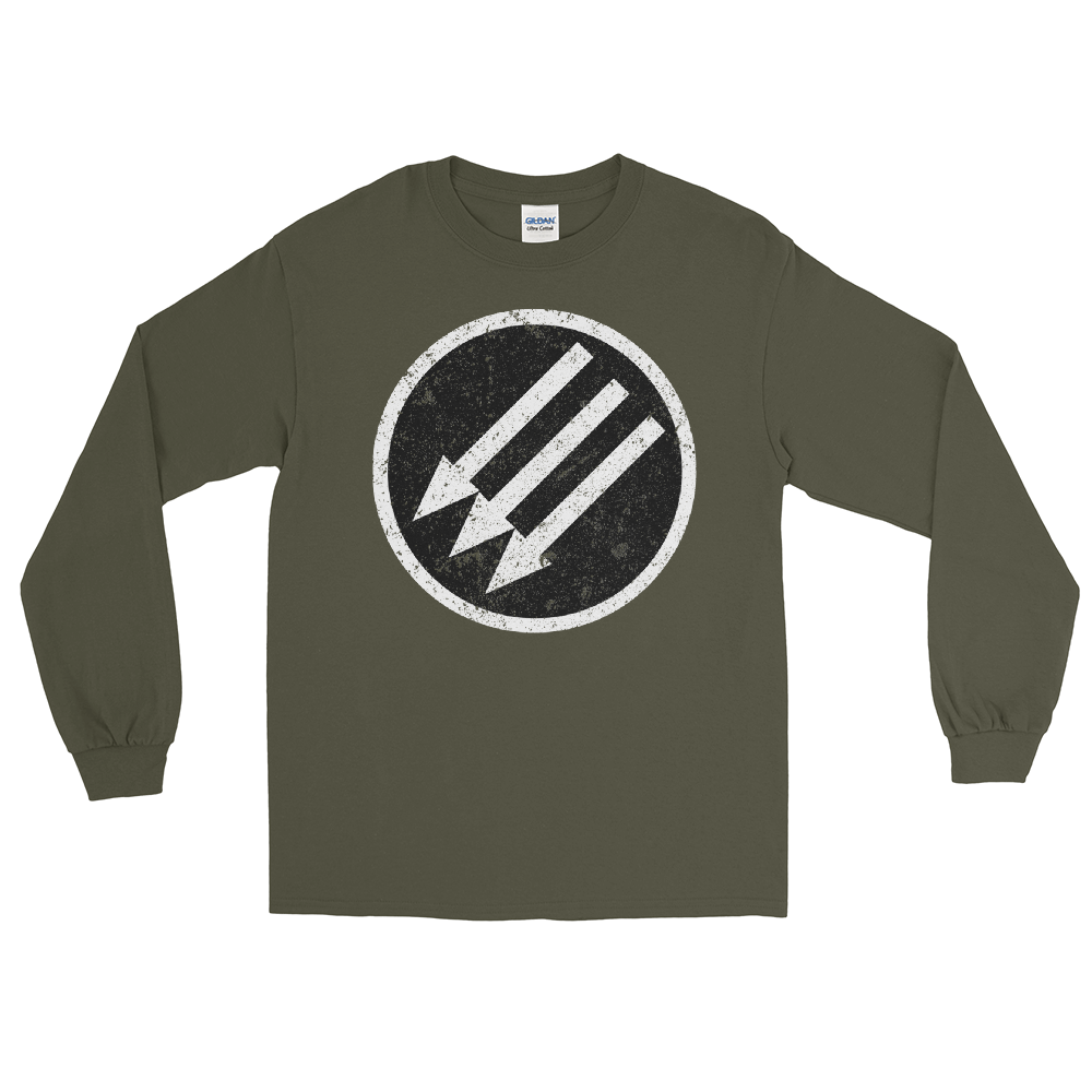 Image of Long Sleeve Grunge Iron Front