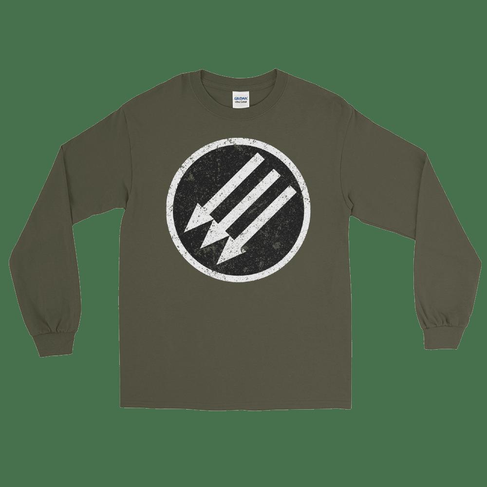 Image of Long Sleeve Grunge Iron Front