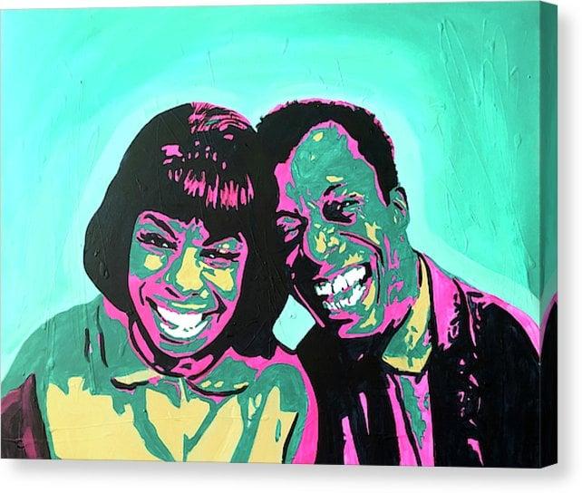 "Image of ""Nina & Baldwin"" Original Painting-By J.Muse"