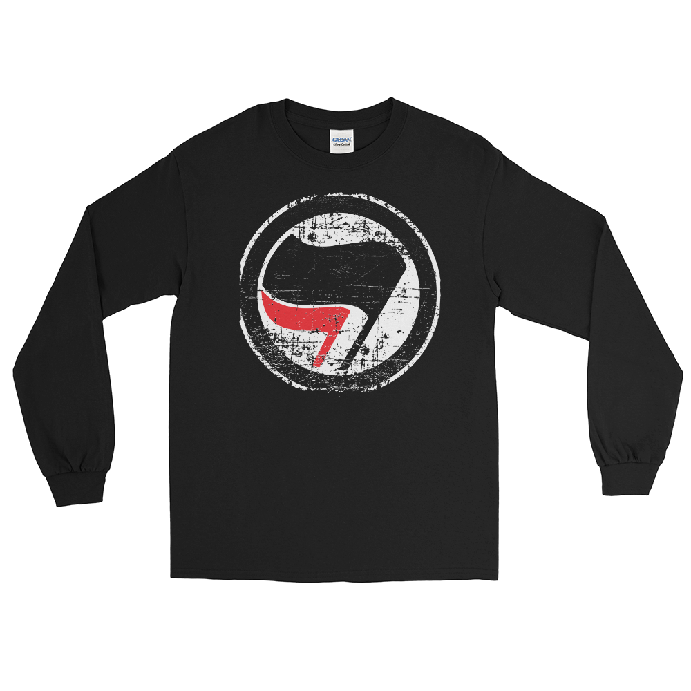 Image of Long Sleeve Grunge Red and Black