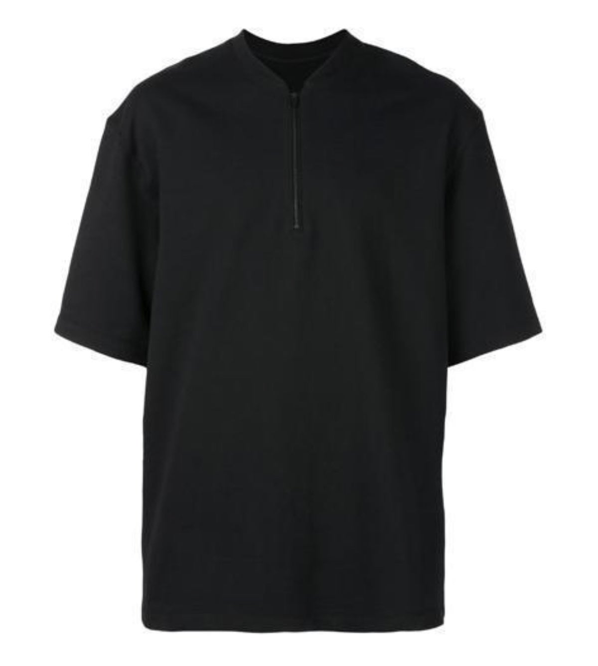 Image of FEAR OF GOD HALF ZIP SWEATSHIRT SHORT SLEEVE