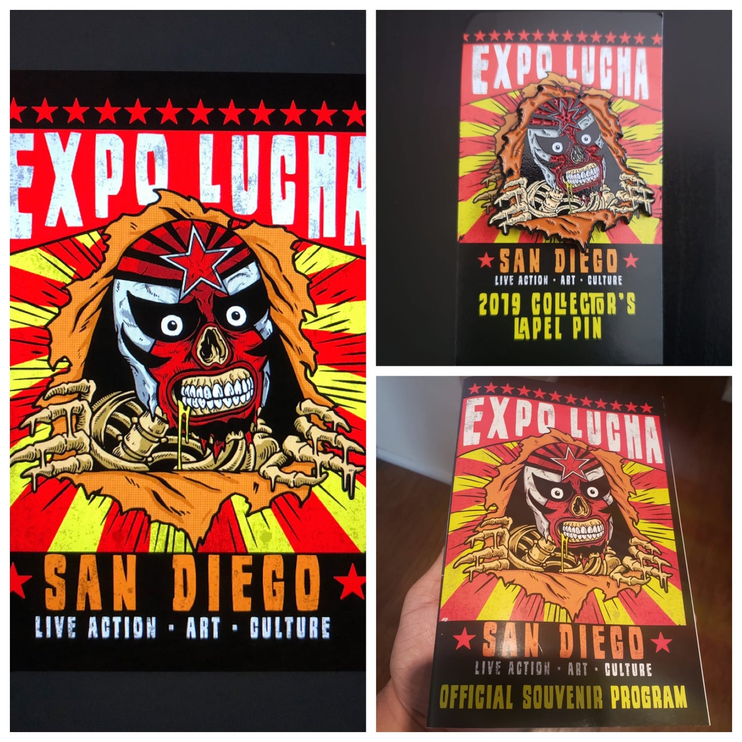Image of Expo Lucha 2019 Pin/Poster/Progam Pack
