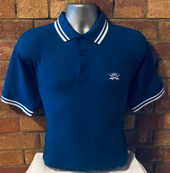 Image of Short sleeved royal blue polo (Free UK postage)