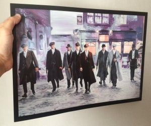 Image of Peaky Blinders 'Take A Little Walk' A3 Print
