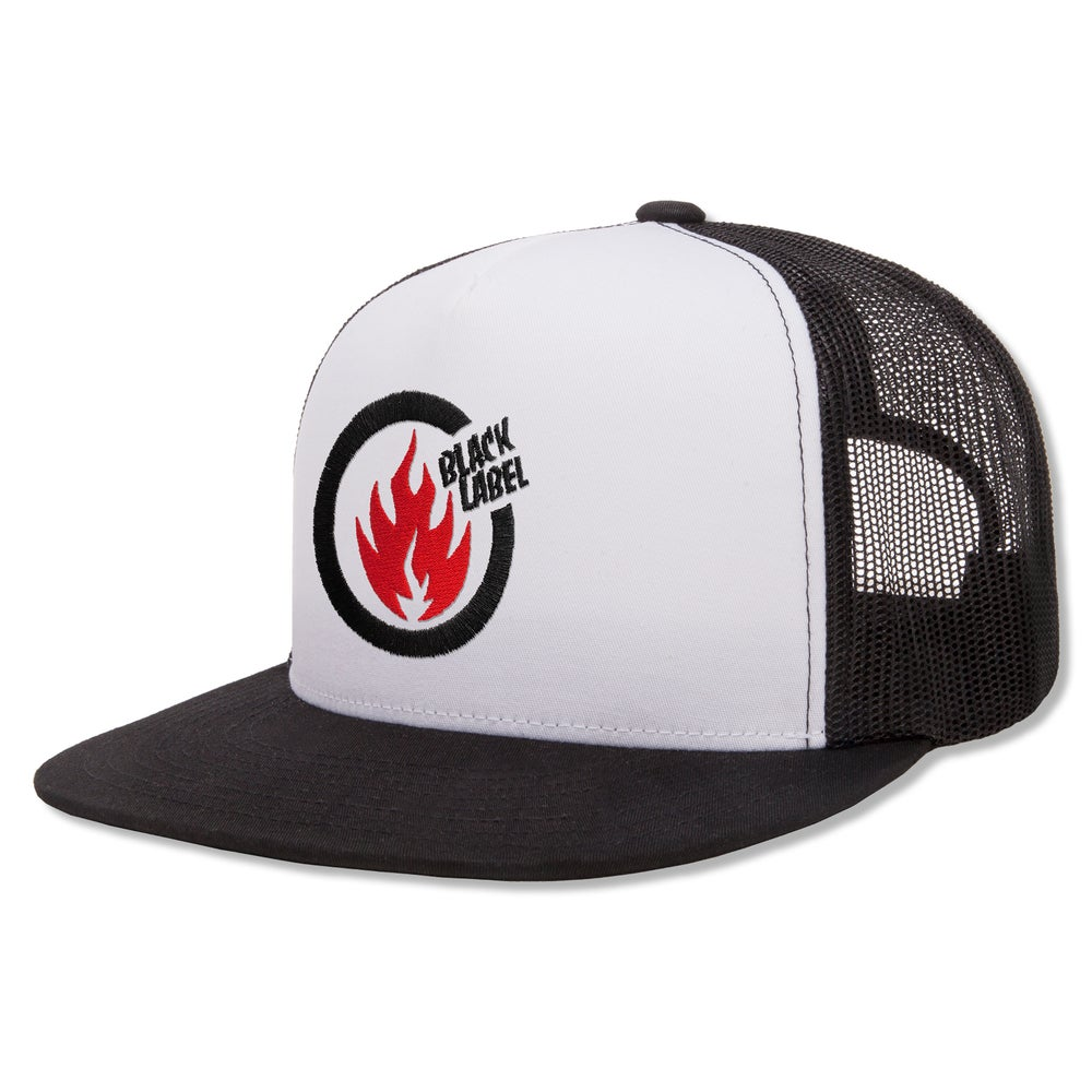 "Image of ""Thrash Flame"" Hat (White Front)"