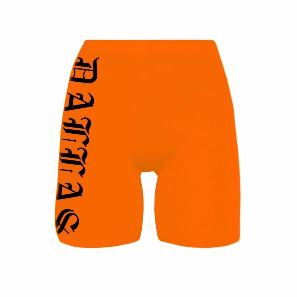 Image of DALLAS ORANGE BIKE SHORTS