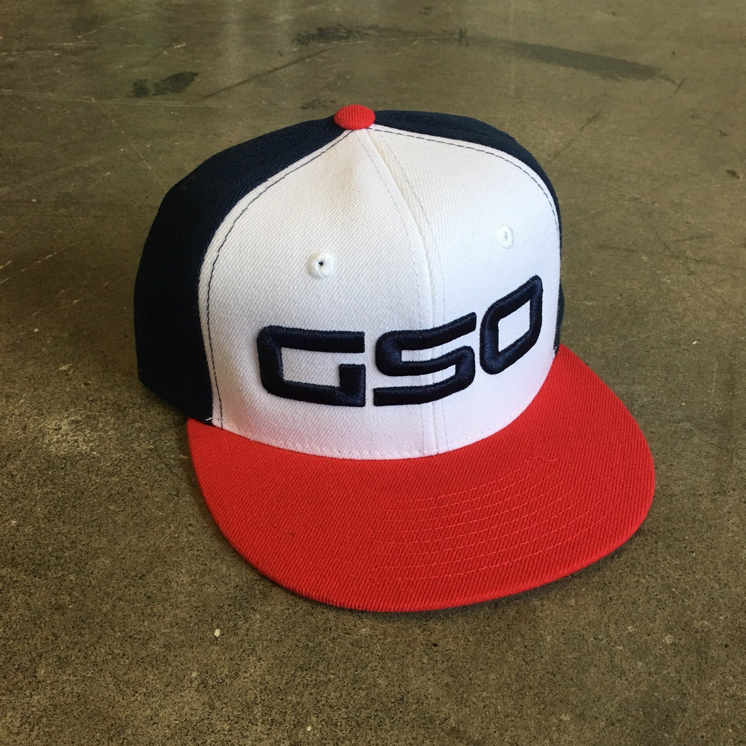 Image of GSO Sox 3-Tone Snapback Flat Bill Hats (pick-up only)