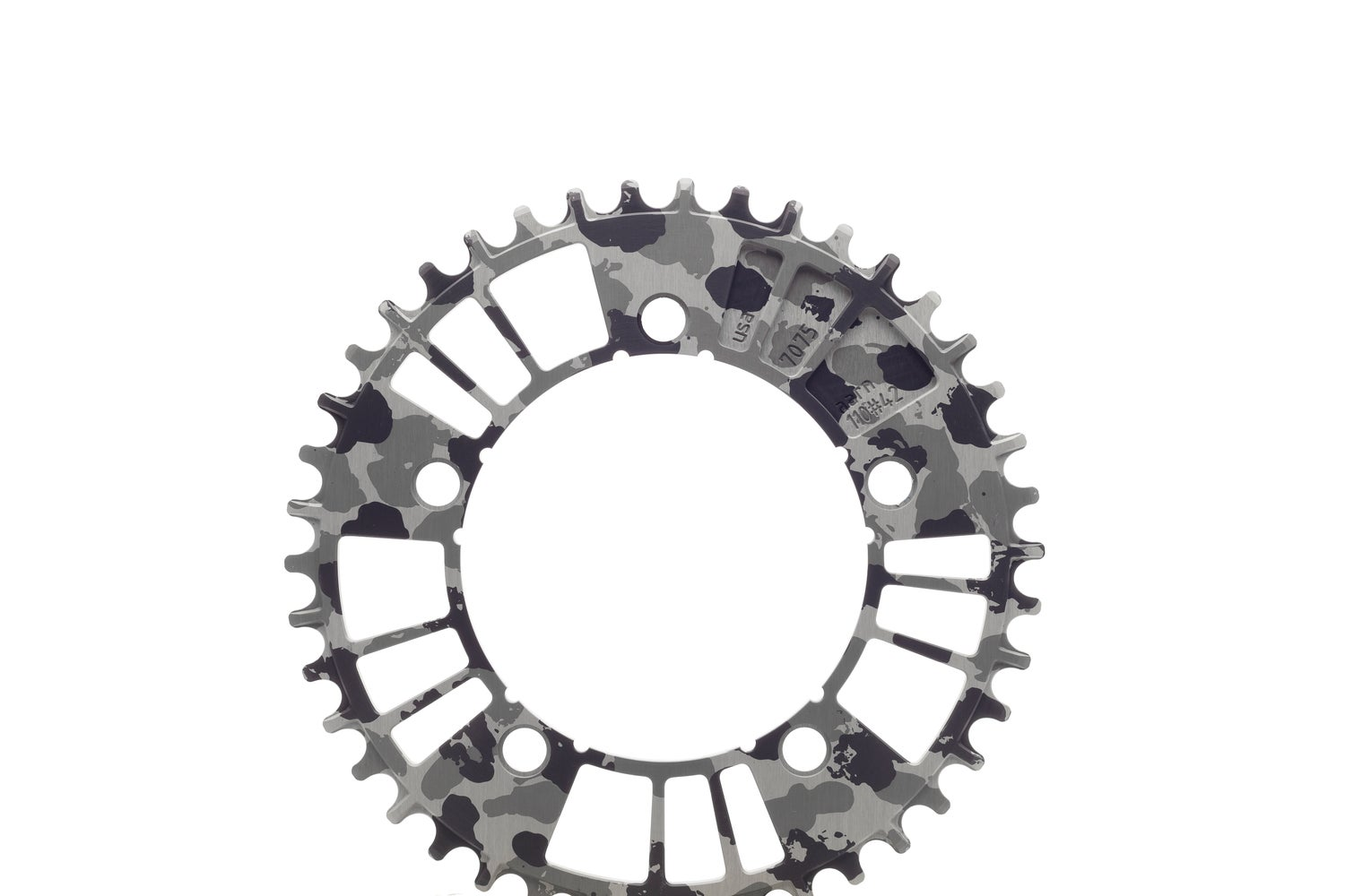 Image of 110#38/40/42 B&W CAMO 1x 12-Speed Chainring (110BCD//38/40/42-Tooth)
