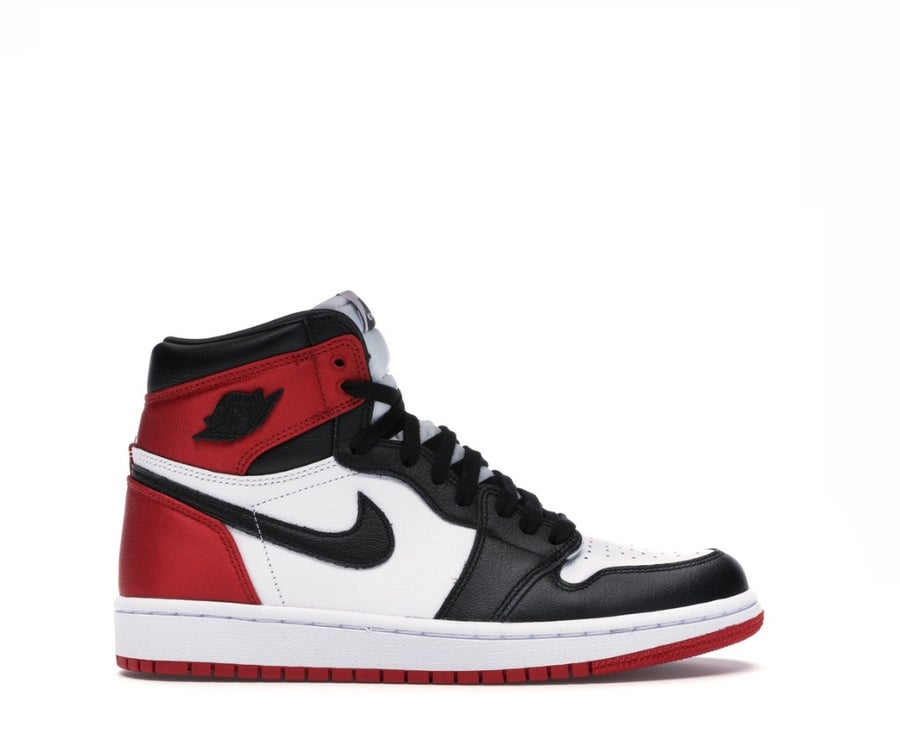 Image of NIKE AIR JORDAN 1 SATIN BLACK TOE (W) CD0461-016