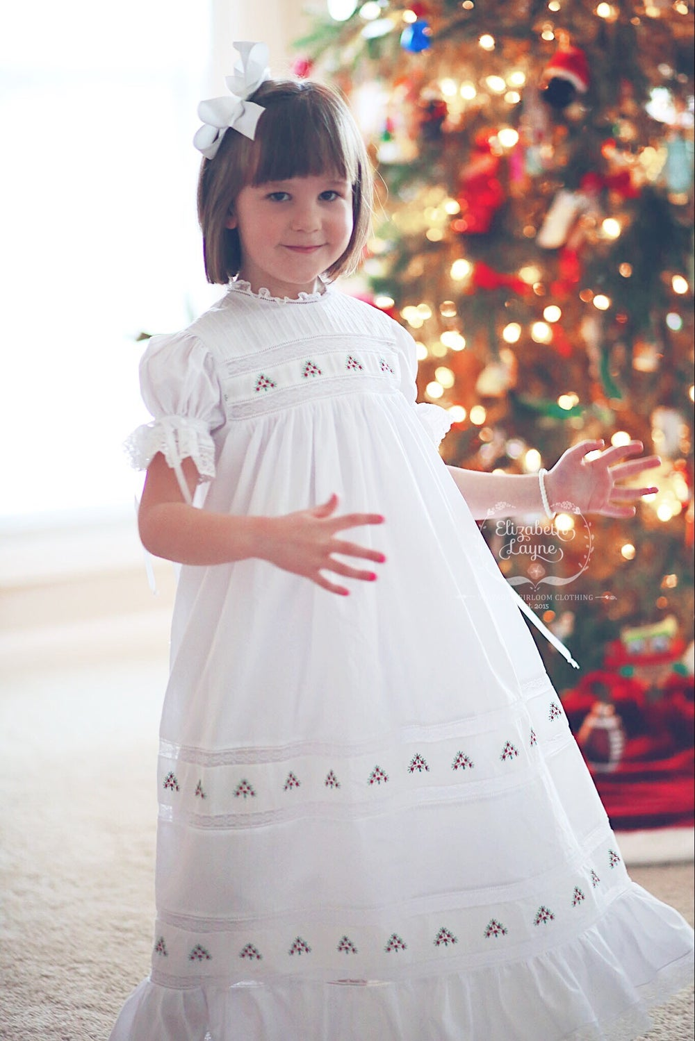 Image of Christmas Tree Insertion Heirloom Dress
