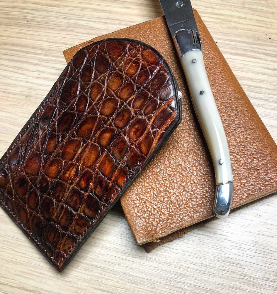 "Image of Slim ""vintage"" Crocodile card holder - keep all"