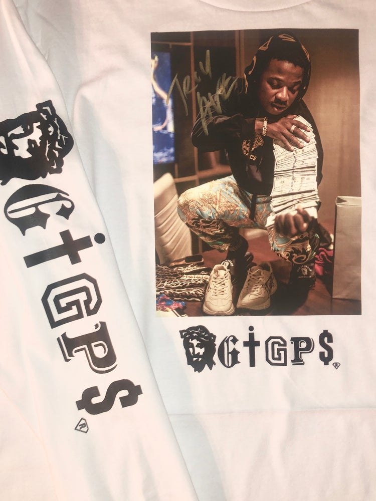 Image of Autographed GIGP$ (TROY AVE PAPER STRAIGHT) Long Sleeve Tee