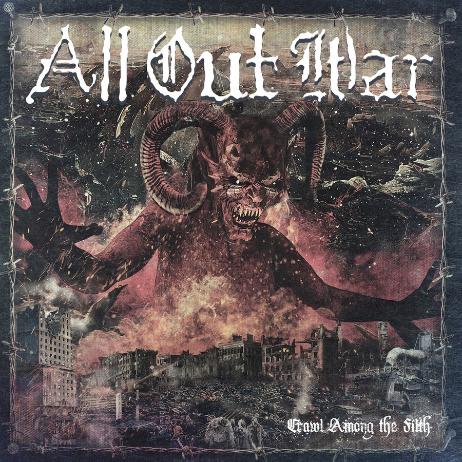 Image of All Out War - Crawl Among The Filth CD (US IMPORT)