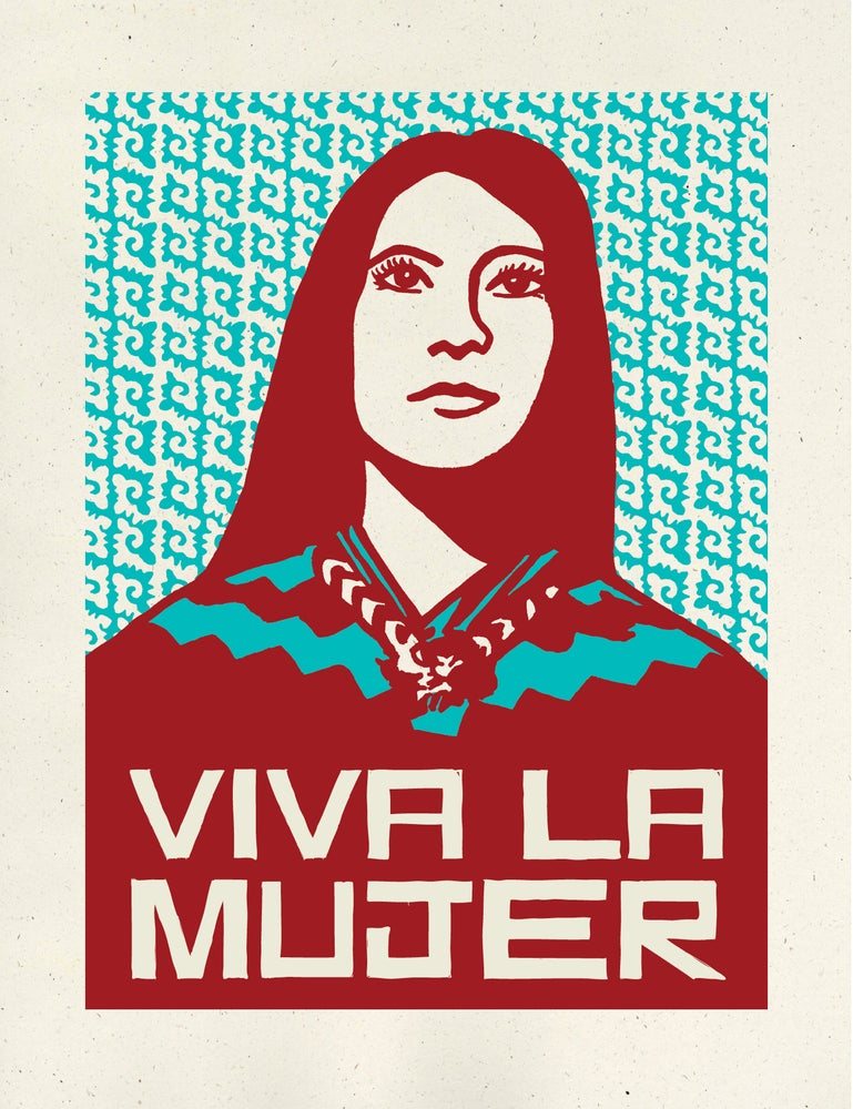 Image of Viva La Mujer - Dark Red & Turquoise (2016)