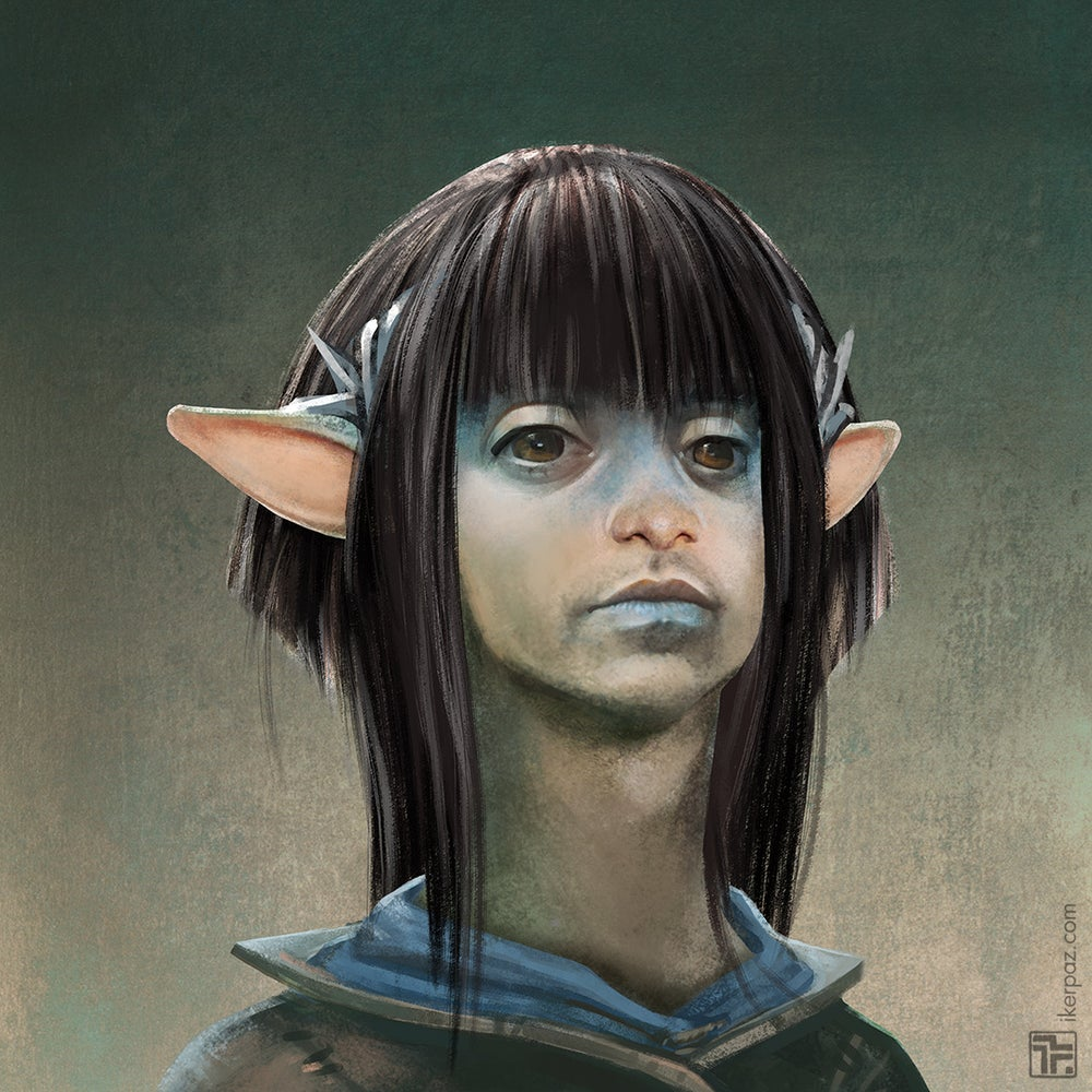 Image of Custom Gelfling portrait commission (downloadable)