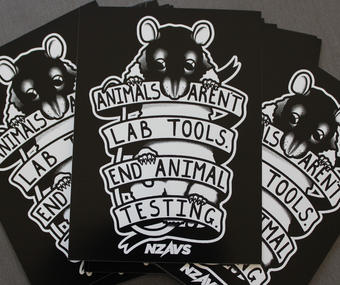 Image of  STICKER - ANIMALS AREN'T LAB TOOLS