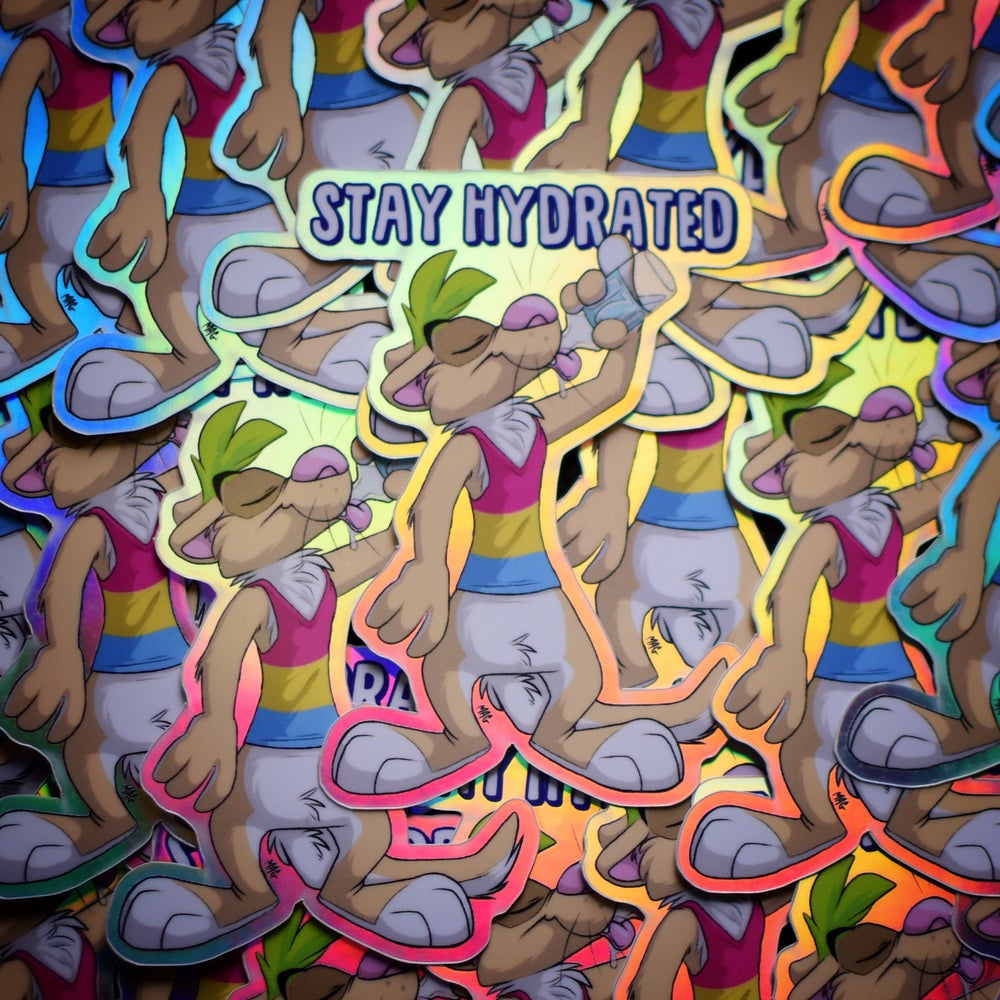 Image of Stay Hydrated Sticker (Rainbow holo)