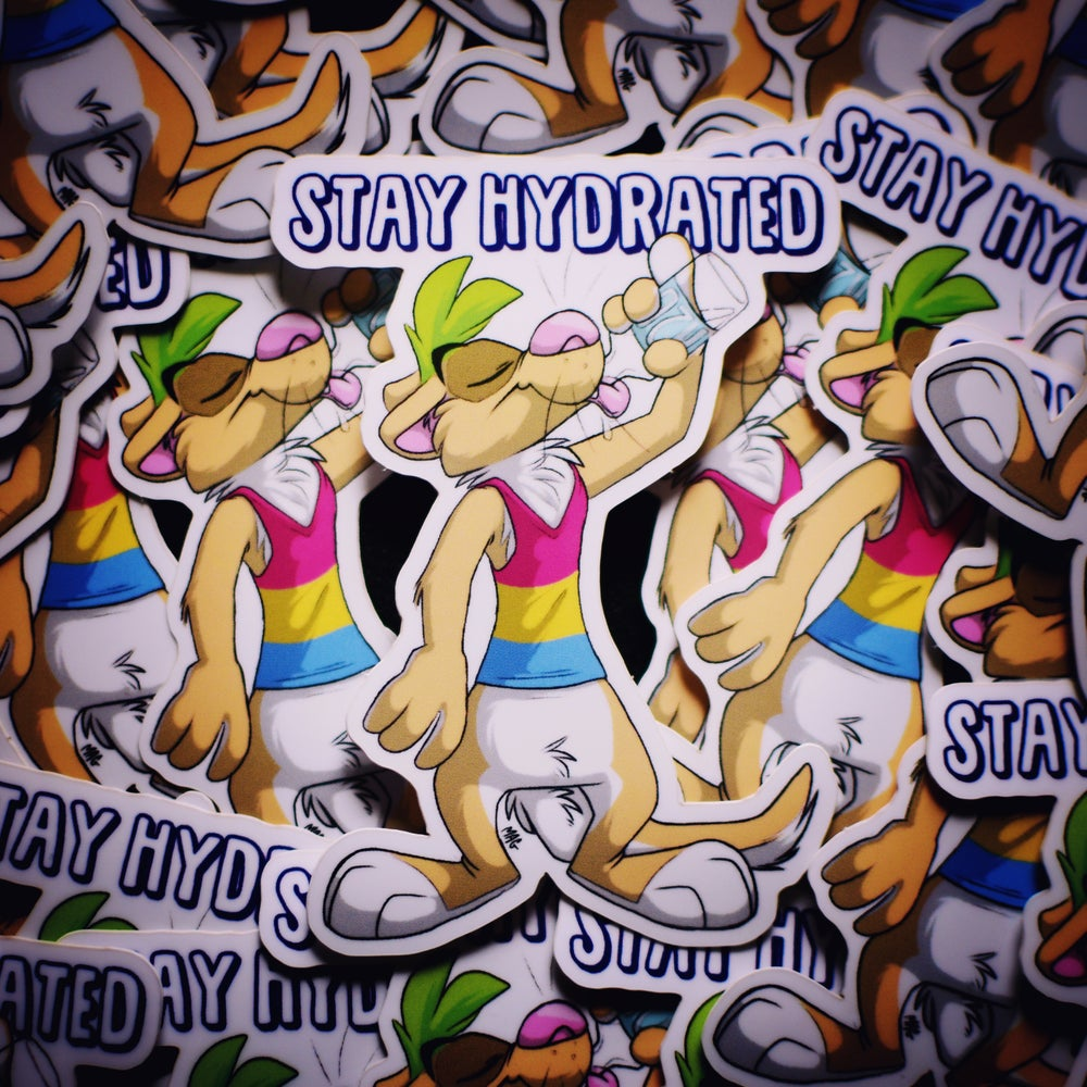 Image of Stay Hydrated Sticker (White)
