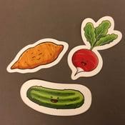 Image of Cute veggie stickers