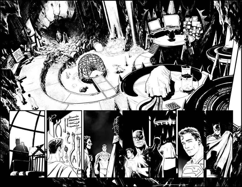 Image of BATMAN/SUPERMAN #1 p.14&15 ARTIST'S PROOF