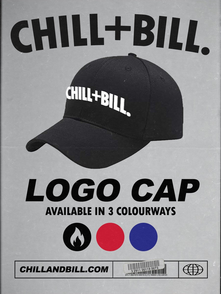 Image of Chill+Bill Logo Cap in Black