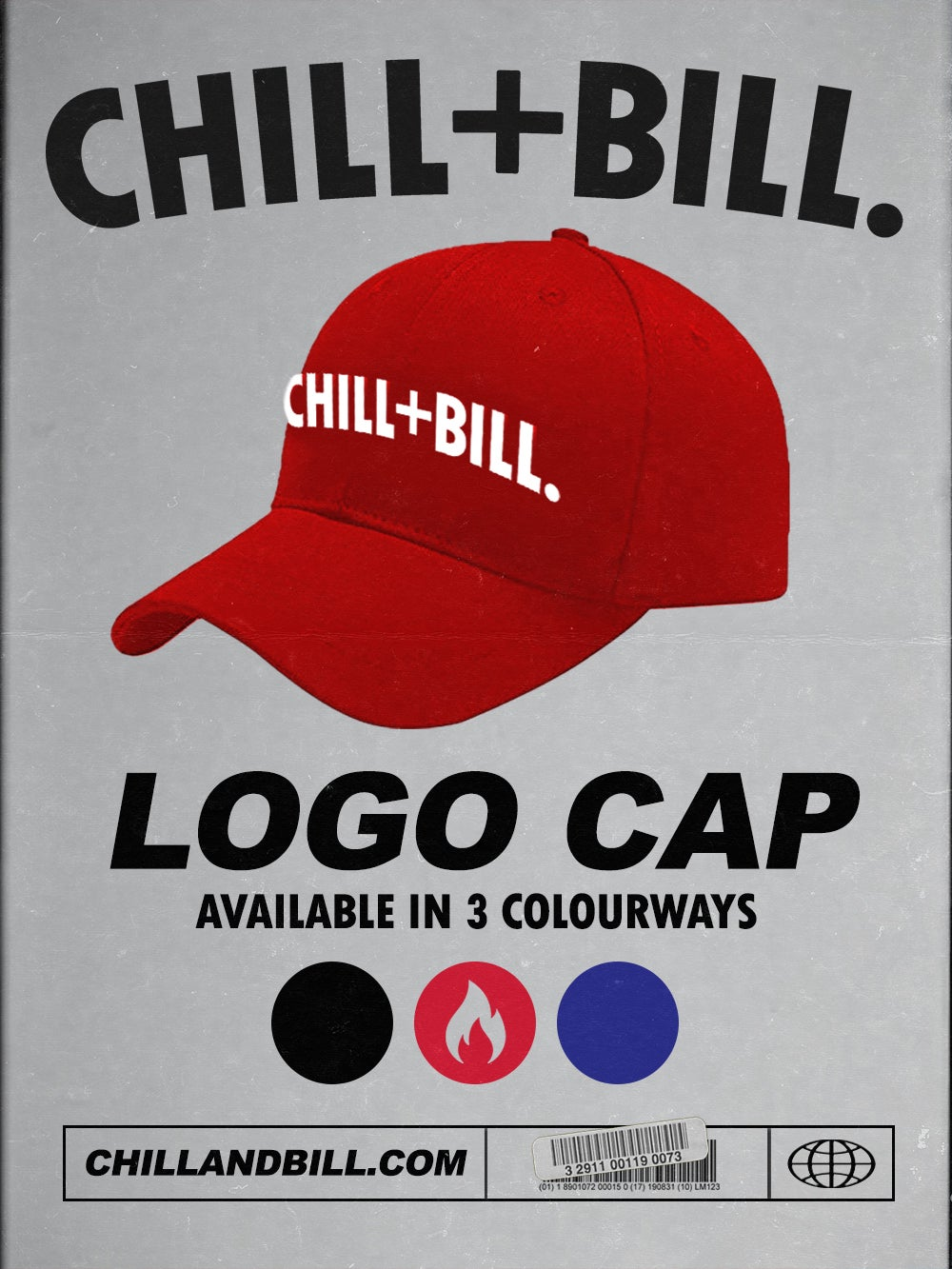 Image of Chill+Bill Logo Cap in Red