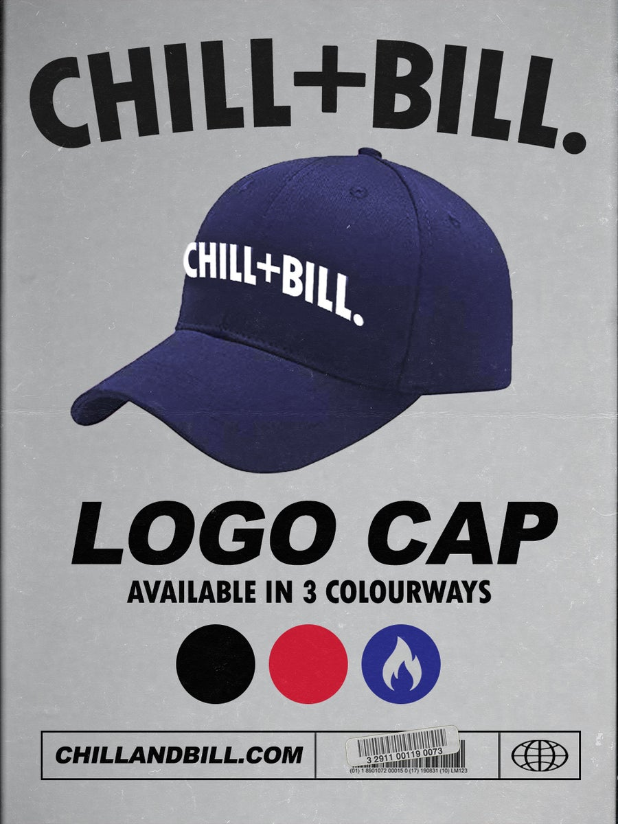 Image of Chill+Bill Logo Cap in Navy Blue