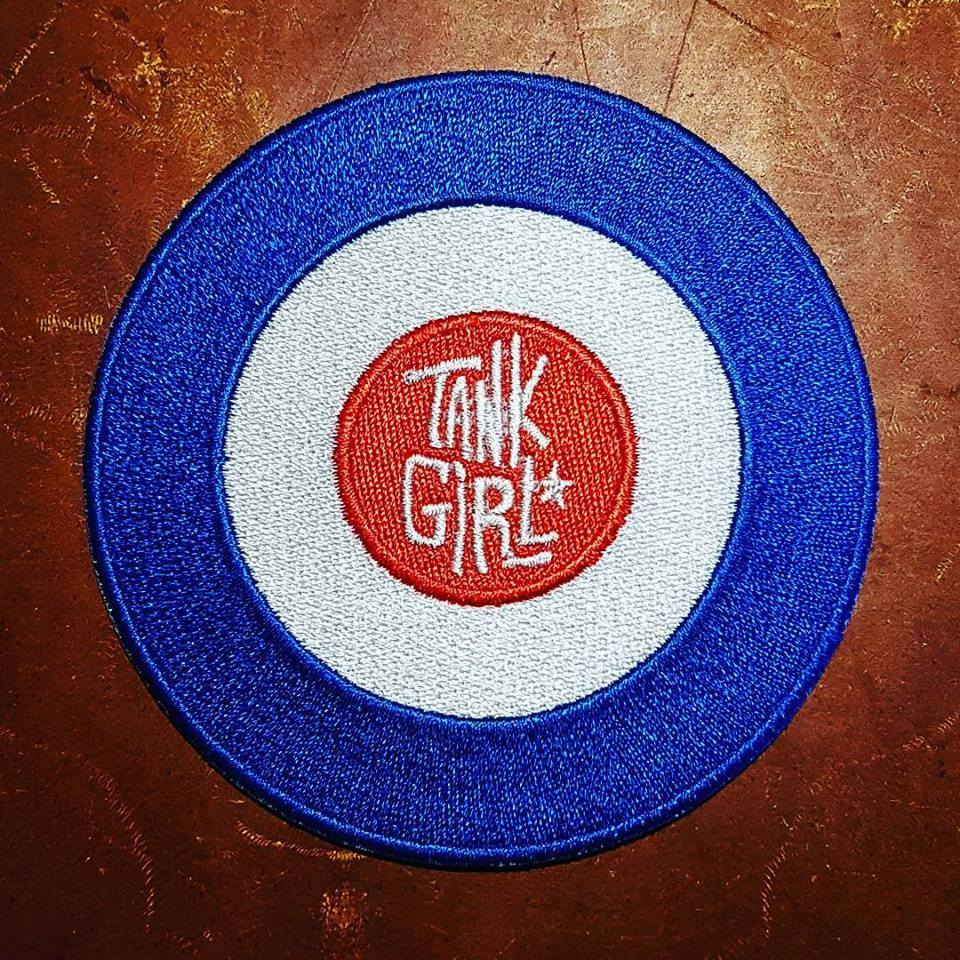 Image of TANK GIRL TARGET PATCH (with TANK GIRL PRINT!)