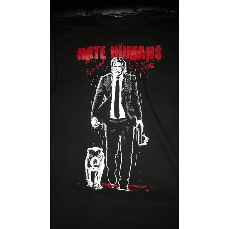 Image of HATE HUMANS T SHIRT #4 (IN STOCK)