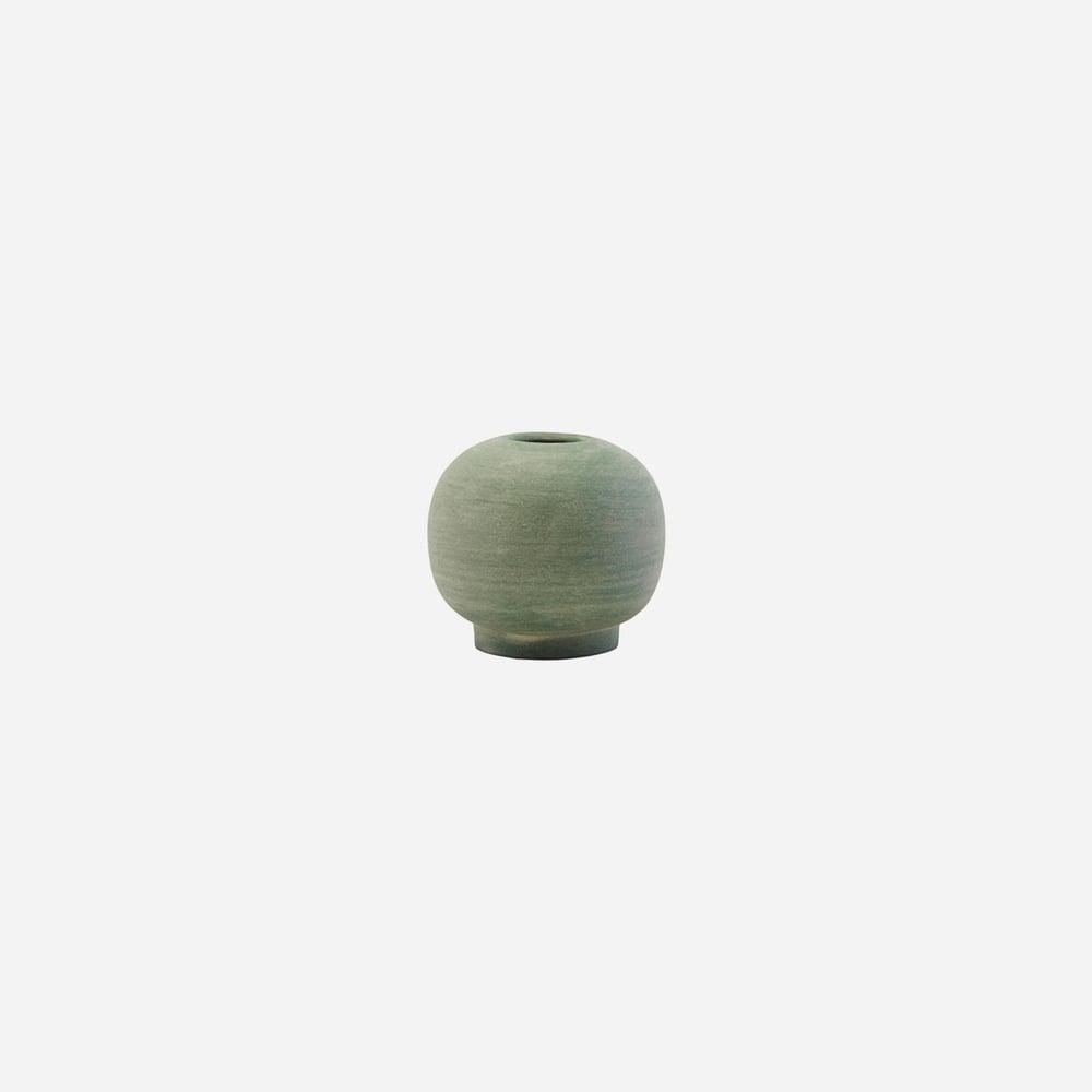 Image of Mini Bobbles vase, Dusty Green