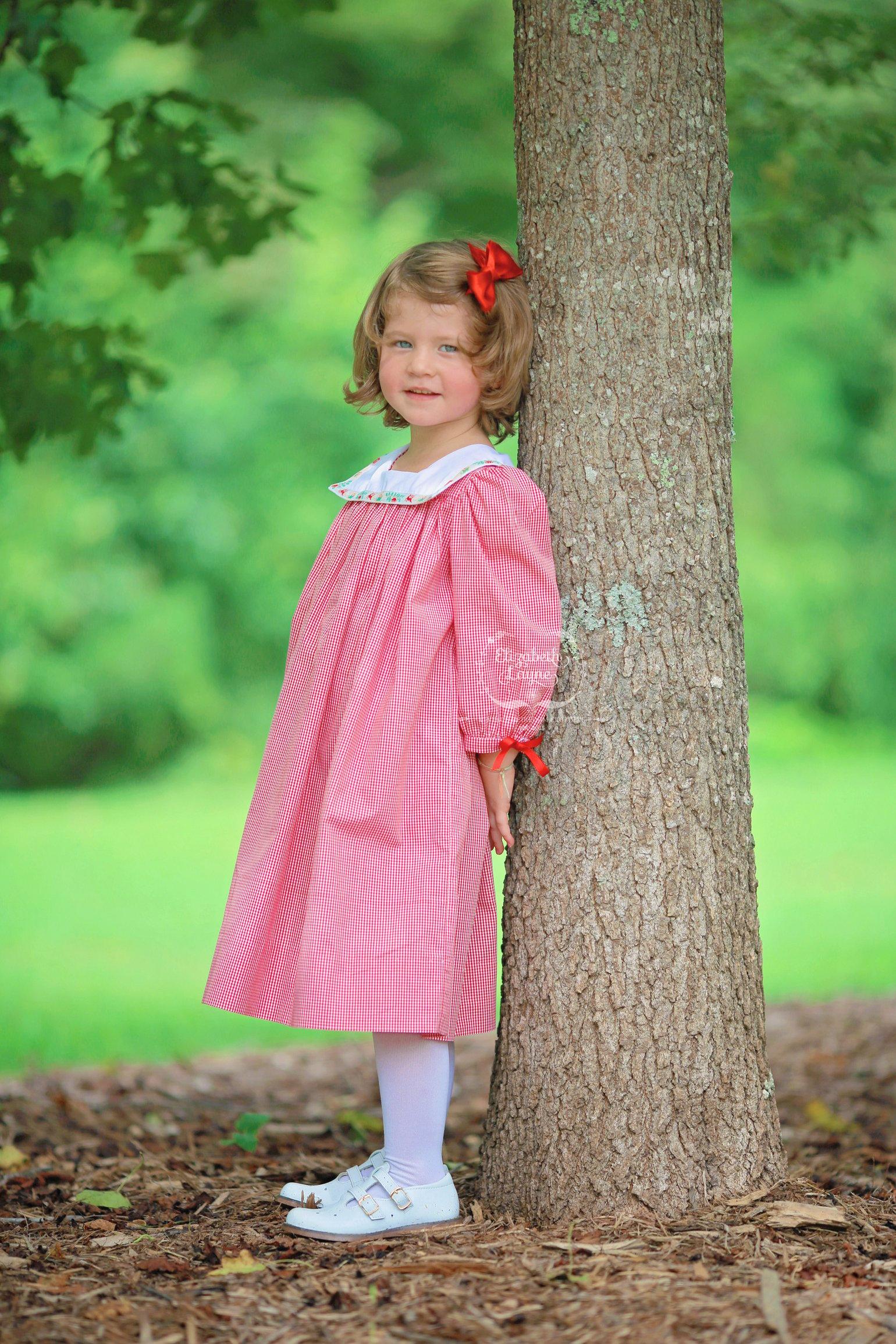 Image of Vintage Reindeer Trim Collar Dress