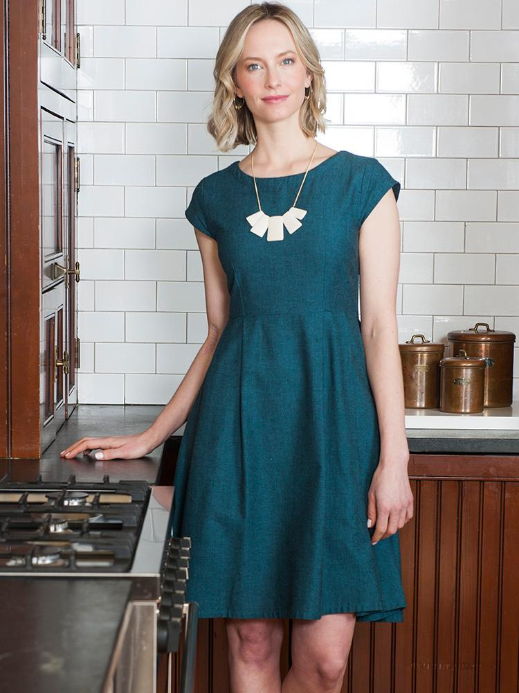 Image of Devonshire Dress - Teal
