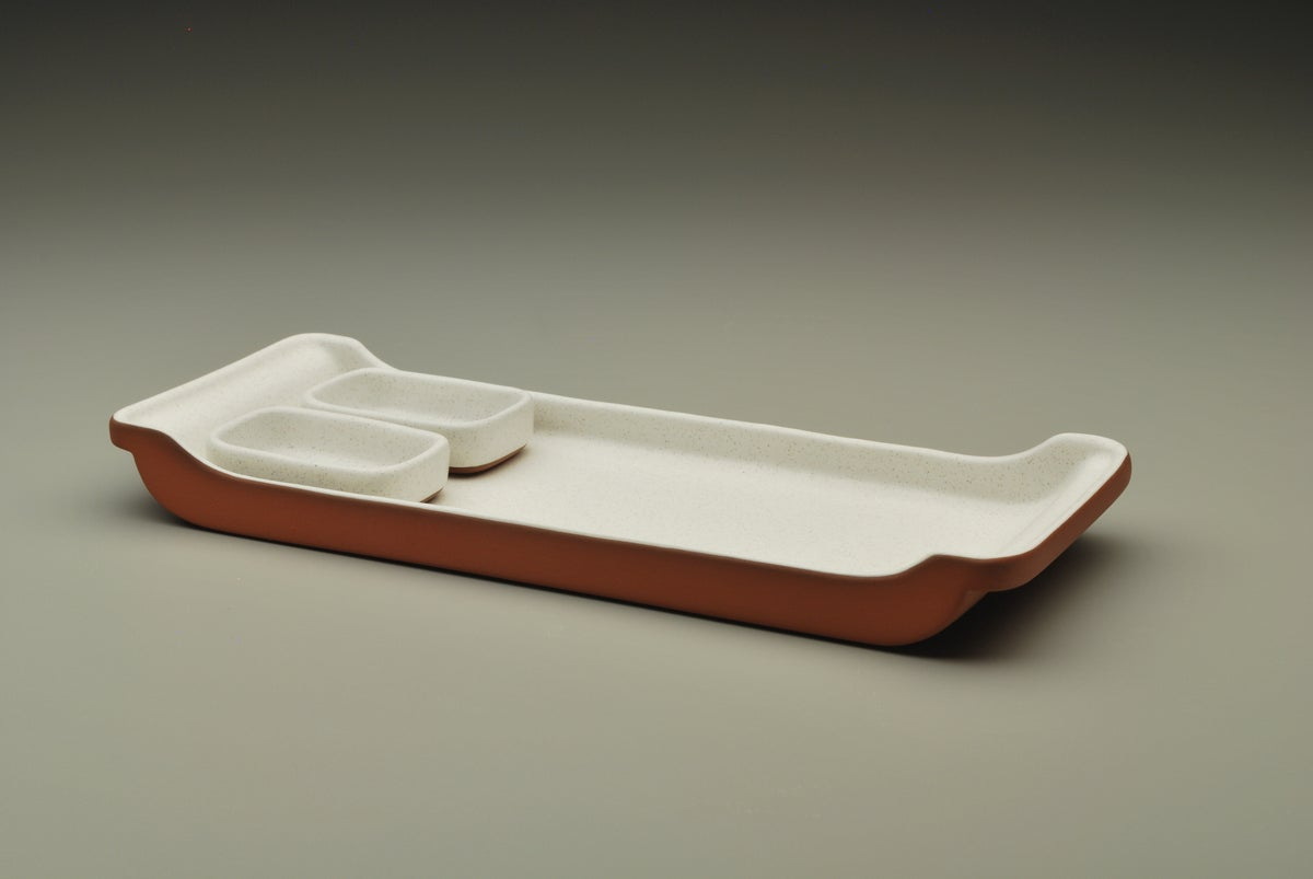 Image of Sushi Tray and Sushi Sauce Bowls