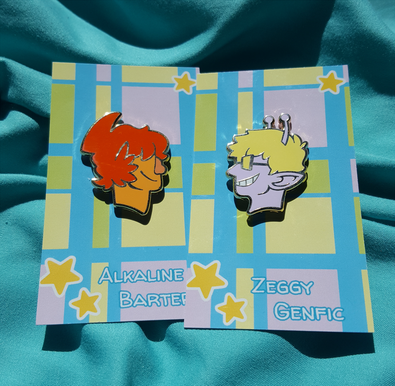 Image of Alkaline and Zeggy - Enamel Pins