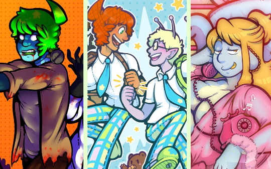 Space School - Large Prints (11x17) - All Together, Halloween, and Maleena!