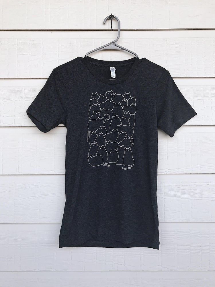 "Image of ""Lots of Cats"" Shirt (Black) - Drawing by Allie"