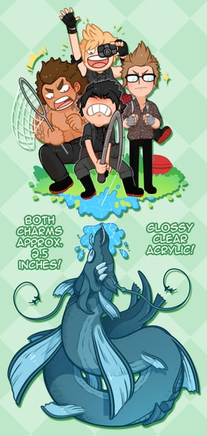Image of FFXV - Acrylic Charm - Catching Leviathan! -- Round 3 PRE-ORDERS!