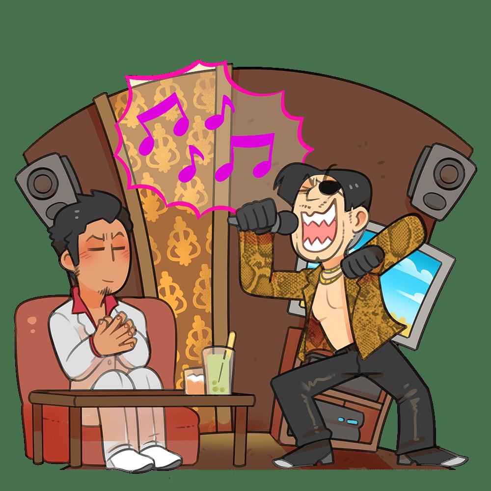 Yakuza - Acrylic Standee - Karaoke Time!
