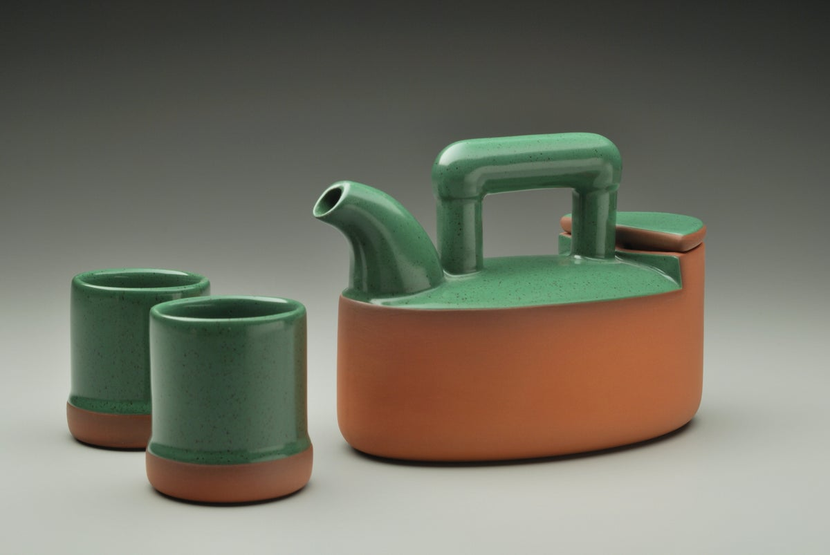 Image of Oval Teapot & Teabowls
