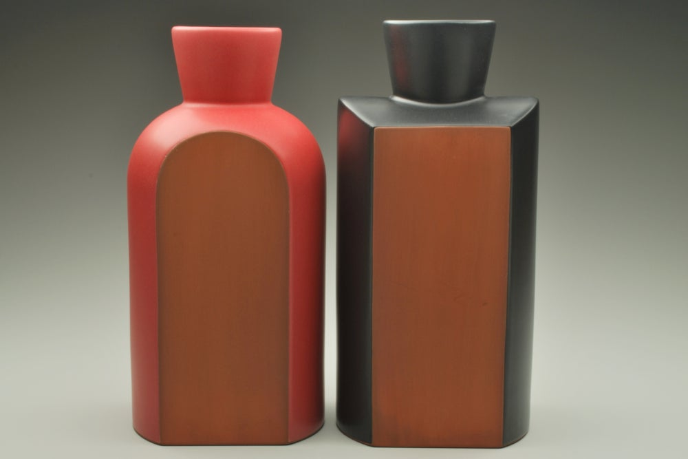 Image of Round & Square Shoulder Vases