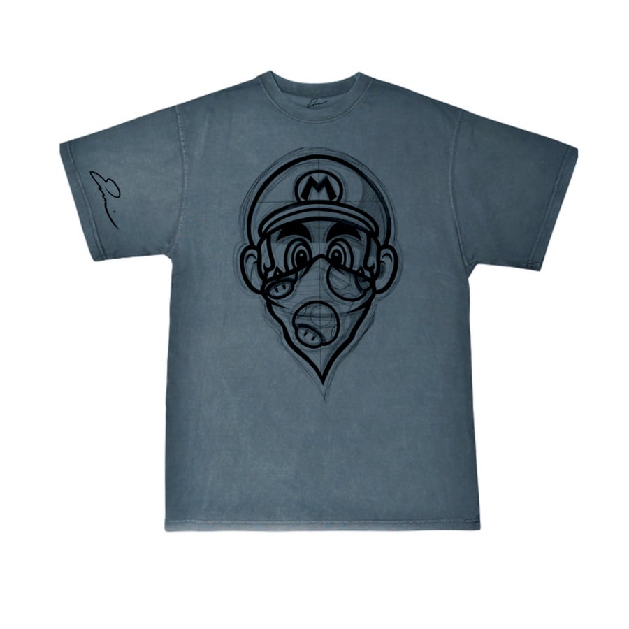 "Image of  DENIM ""SKETCHY MARIO"" Men order one size down"