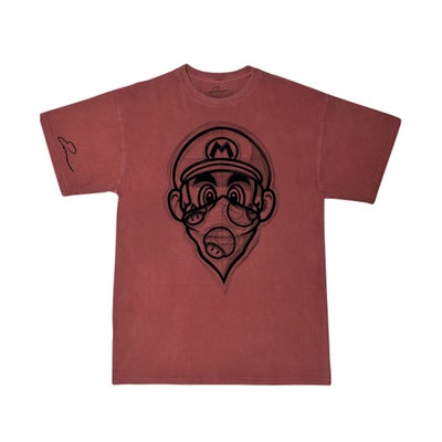 "Image of CRIMSON ""SKETCHY MARIO""   Men order one size down"