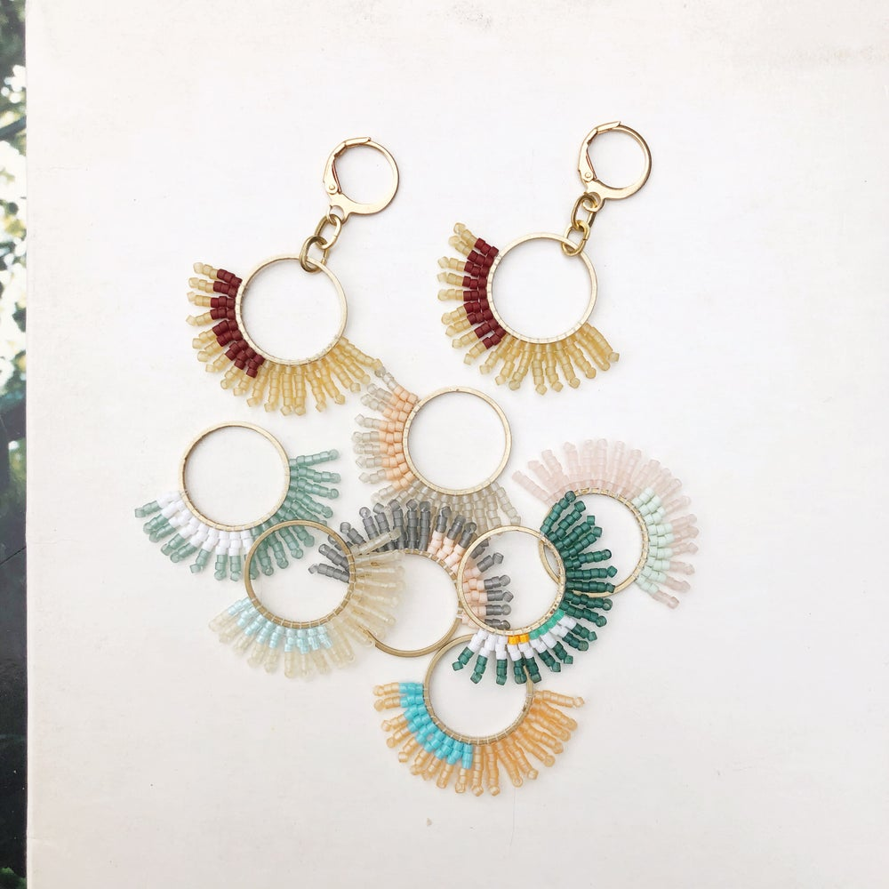 Image of TOUCH TONE - Small Demi-Burst Earrings
